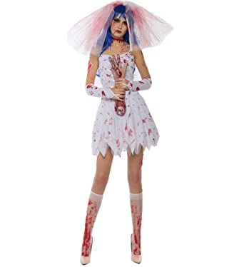 Dead Bride Halloween Costume.Amazon Com Blugibedramsh Women S Halloween Costume Horror