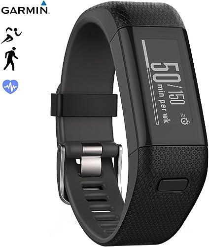 Garmin Vivosmart HR Activity Tracker Regular Fit, Black 010-N1955-36 – Renewed