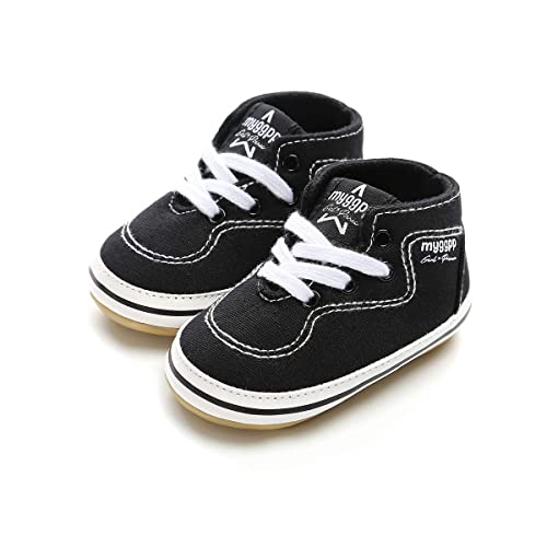 a54a1b534f30 Sabe Unisex Baby Toddler Boys Girls Soft Rubber Anti-Slip Sole Canvas  High-Top
