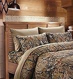 20 Lakes Camouflage Woodland Style Luxurios Microfiber Sheet & Pillowcase Set