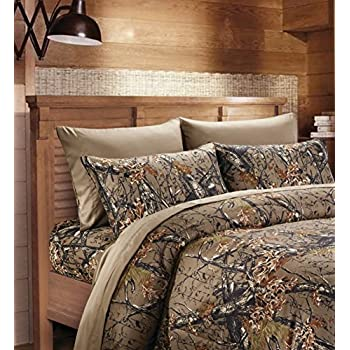 Superb 20 Lakes Super Soft Microfiber 6 Piece Camo Bed Sheets And Pillowcases(Queen,  Forest
