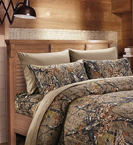 Camouflage-Woodland-Style-Luxurios-Microfiber-Sheet-Pillowcase-Set