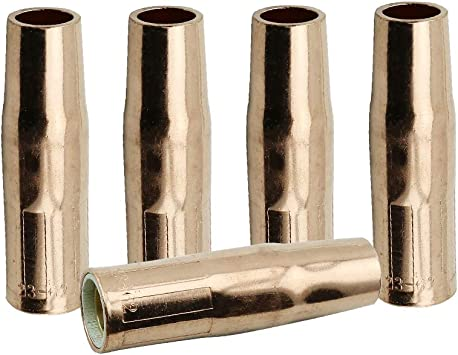 WeldingCity 5 Gas Nozzles 23-50-F 23-50F 1//2 for Lincoln Magnum and Tweco MIG Welding Guns