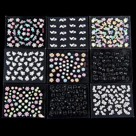 50 x Feuille De Sticker Multicolore Nail Art Manucure Amazon
