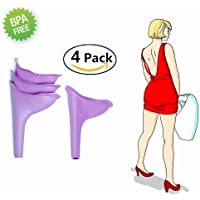 Unicoco 4 Piezas Urinario Femenino Portátil para Viajes