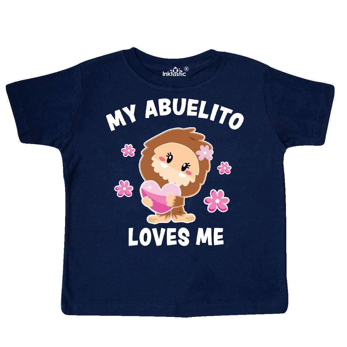 inktastic My Abuelito Loves Me with Bigfoot Toddler T-Shirt