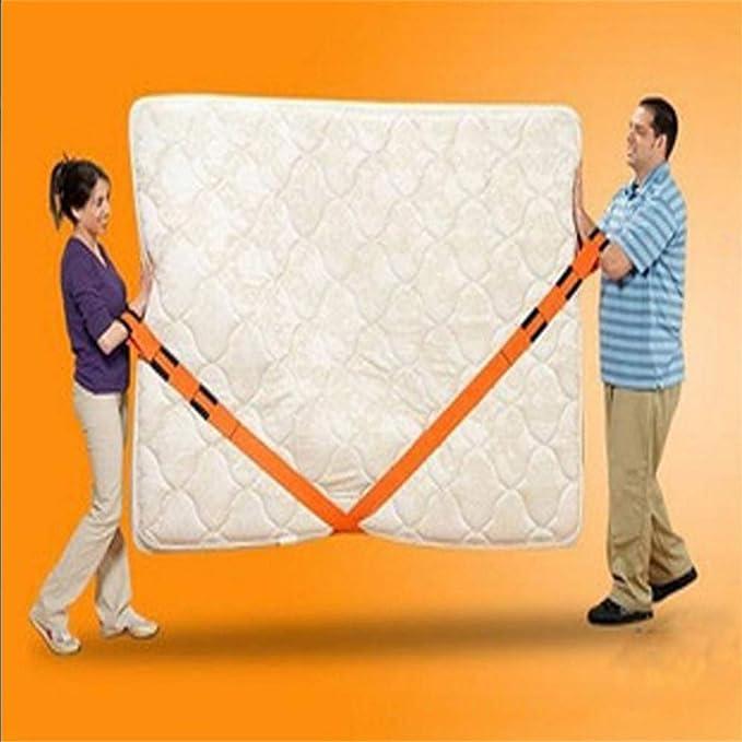 Cinturón de transporte para levantamiento de pesas con capacidad de carga máxima de 90 kg, fácil de transportar, para muebles, electrodomésticos, colchones ...