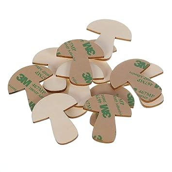 Selbstklebende Holz Pilze   1 10cm Wanddeko Basteln Deko Tischdeko, Pack  Mit:100