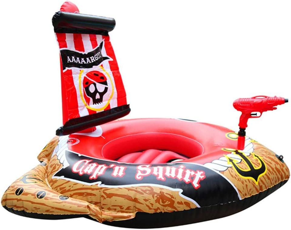 Barca Hinchable Per Barco Pirata, Barco Pirata Inflable Niños Flotadores De Piscina Refrigeración Duradera Piscina Flotador Juguete Para Niños
