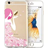 iPhone 6 Case, ESR Mania Series Protective Case Bumper[Scratch-Resistant] [Perfect Fit] Clear Hard Back Cover with Cute Print for 4.7 inches iPhone 6 (Pink Floral Girl)