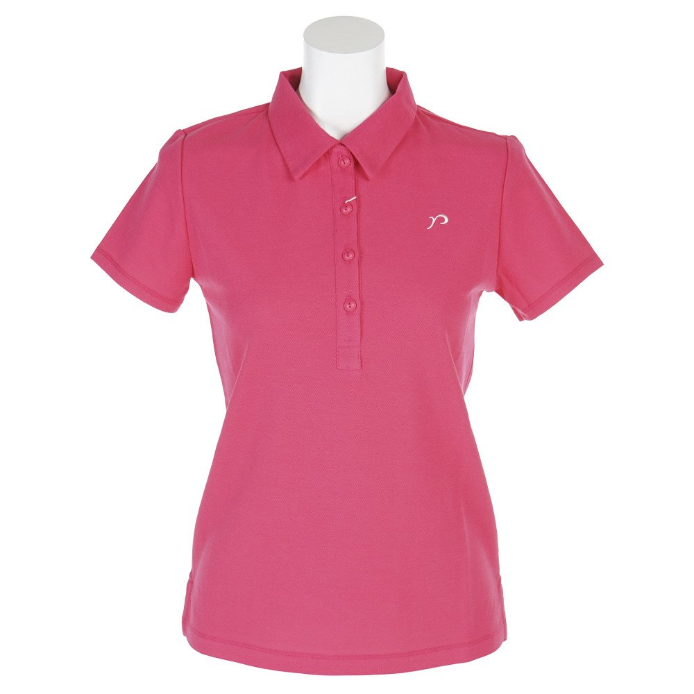 リエンダスエルタゴルフ(Rienda Suelta Golf) 無地rマーク刺繍 半袖ポロ RS-8020712 ローズピンク S   B0757KXJ4S