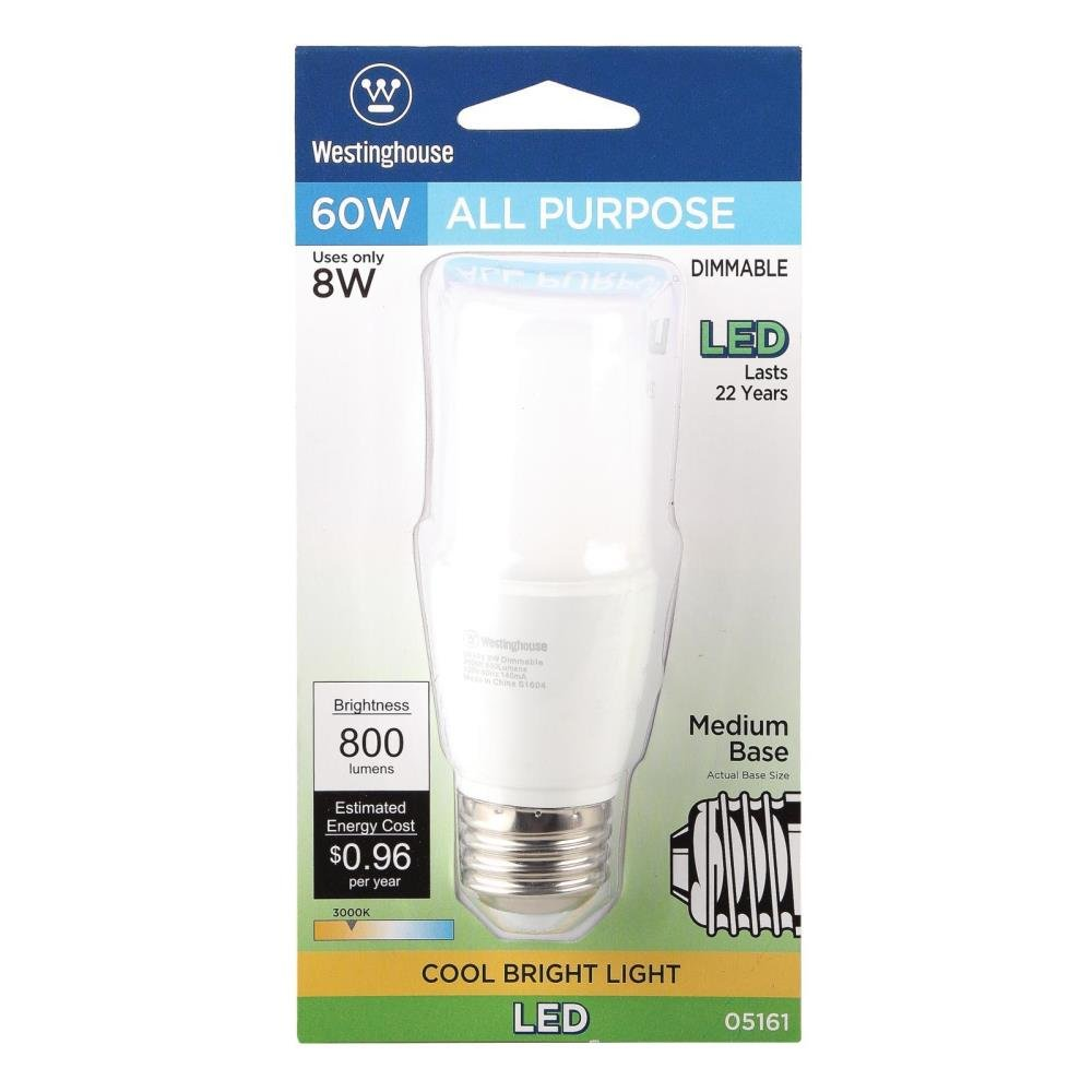 Westinghouse 0516100 60W Equivalent T7 Dimmable Cool Bright Led Light Bulb with Medium Base - - Amazon.com