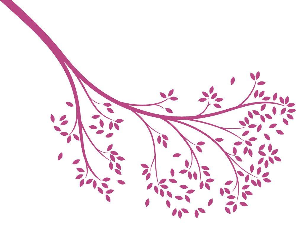 LittleLion Studio Reaching Branch Wall Decal,Violet 142025040000000000000000