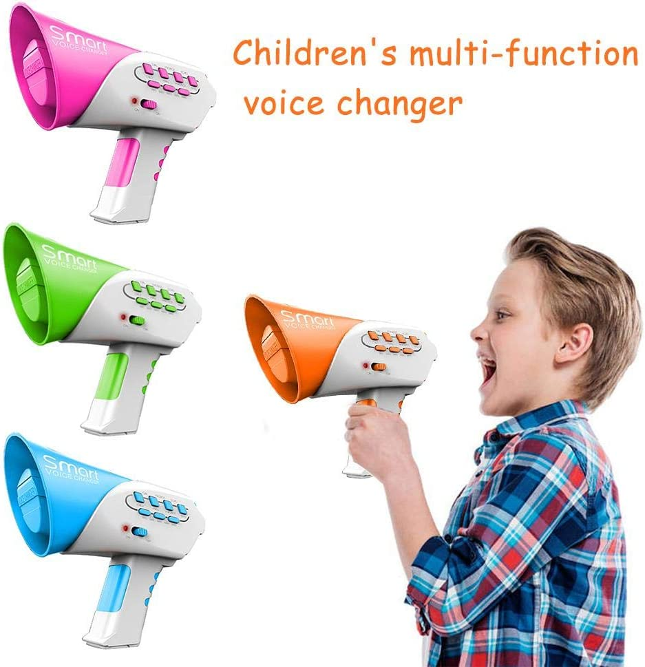 hinffinity Kids Voice Changer Toy 7 Different Sound Effects Childrens Speaker Toys Multi-channel Voice Changer Puzzle Toy For Children
