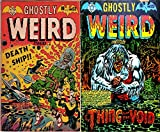 Ghostly Weird Stories. Issues 122 and 123. Death ship and thing from the void. Golden Age Digital Comics Paranormal, Horror and Mystery
