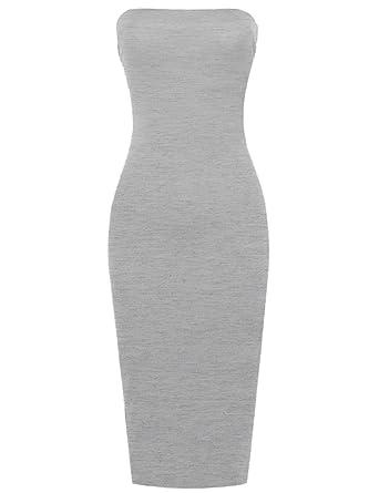 14f024d3911 Women s Solid Body-Con Midi Tube Dress at Amazon Women s Clothing store