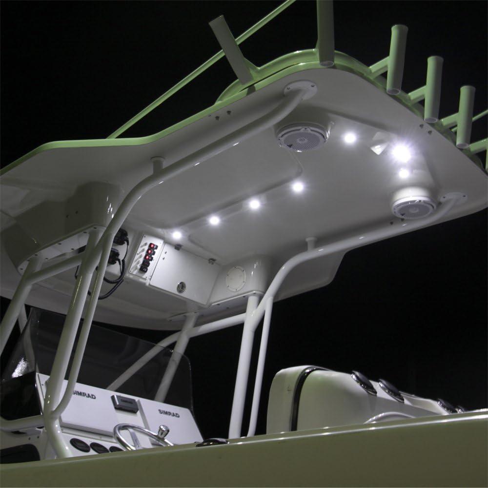 Lumitec Capri LT LED Flush Mount Spreader Flood Boat Light White Housing 101288