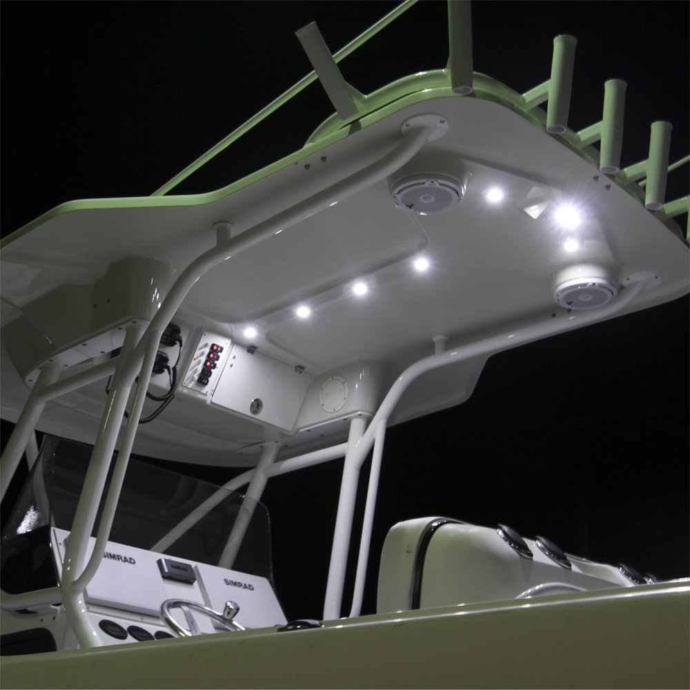 Lumitec Capri LT LED Flush Mount Spreader Flood Boat Light White Housing 101288 by Lumitec