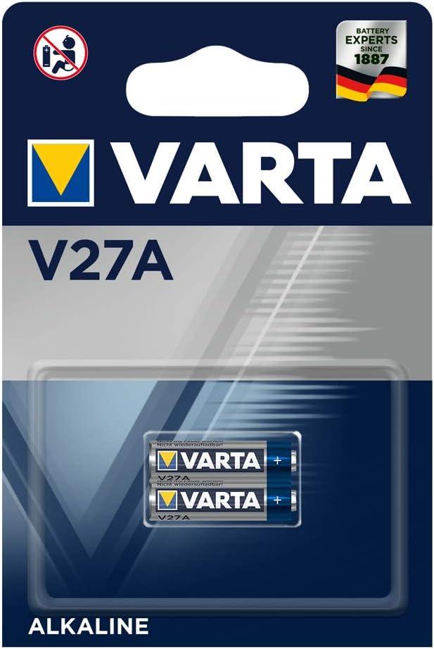 Varta v27 a/lr27 - pack de 2 pilas (alcalina, 12 v, 19 mah).