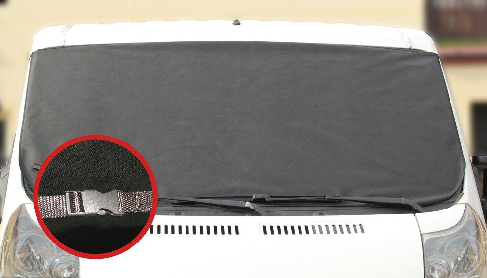 L/&P A172XXL Protezione parabrezza antighiaccio XXL copertura grande antigelo anti gelo auto invernale 180cm x 100cm inverno con chiusura a scatto