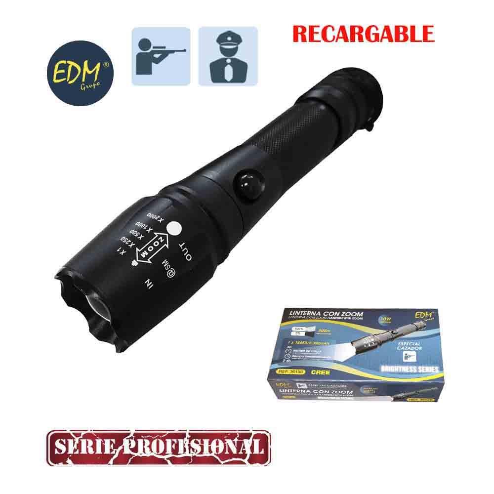 Taschenlampe mit Zoom Akku 10 W Besondere Jäger