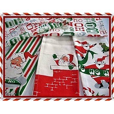 Santa Calls Mid-century Modern Christmas Towel Set