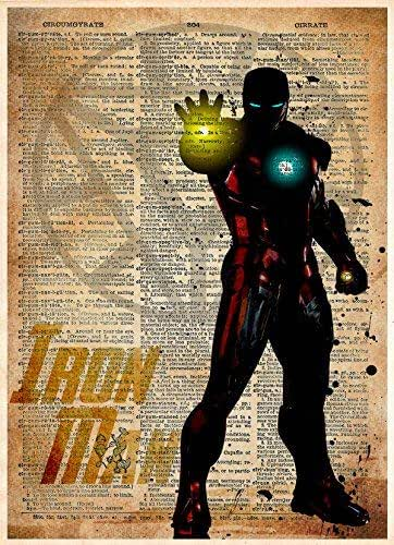 Amazon Com Iron Man Standing Ironman Splatter Art
