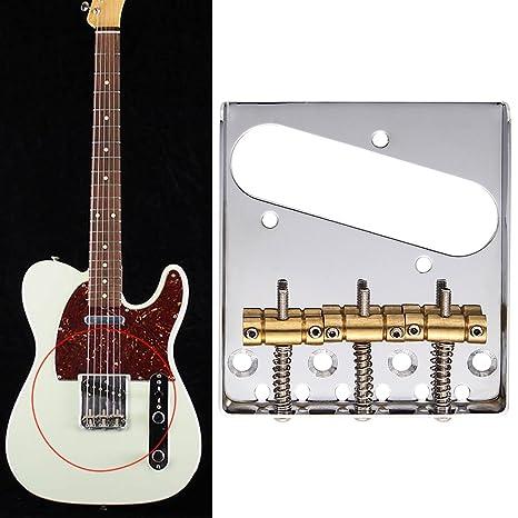 domybest 3 sillín TL Guitarra eléctrica estilo puente con 1 llave inglesa y 4 tornillos