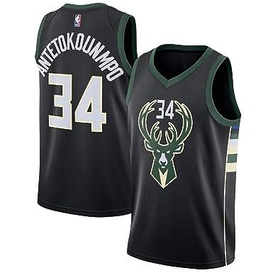 ec0fcdacd Majestic Athletic Youth Milwaukee Bucks Giannis Antetokounmpo Jersey Black  (YTH S 8)