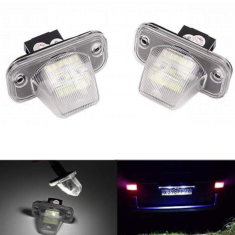 PolarLander 2Pcs 18SMD LED Número de matrícula Lámpara de luz para VW Transporter T4 / Caravelle
