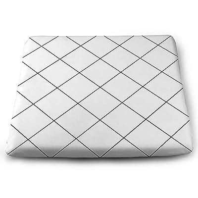Tinmun Square Cushion, Black Grid White Diamond Abstract Large Pouf Floor Pillow Cushion for Home Decor Garden Party: Home & Kitchen