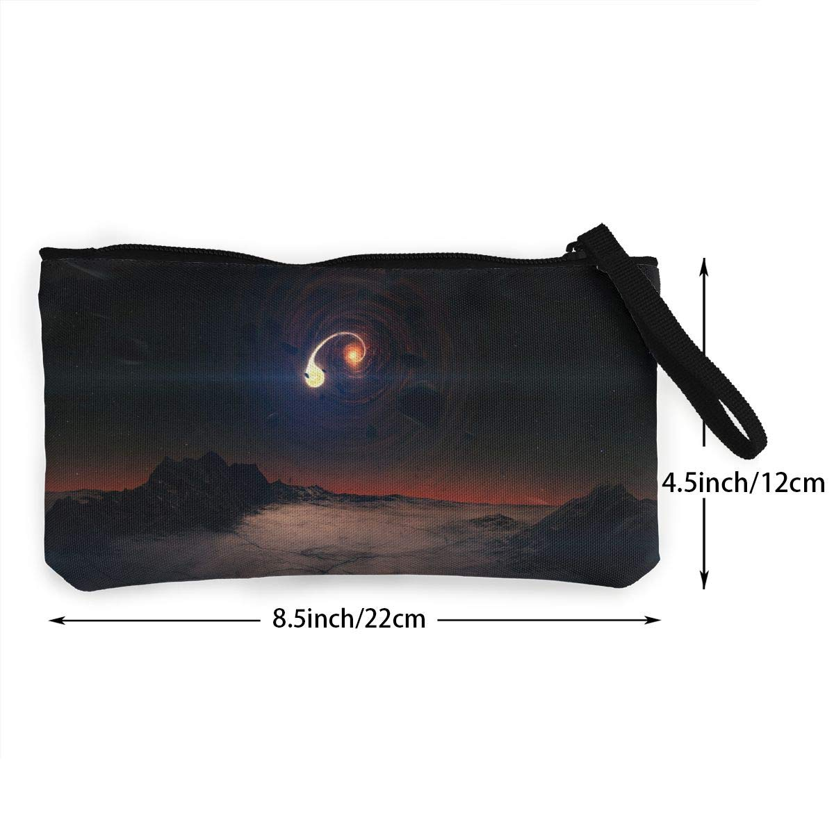 Novelty Fantasy Space Art 3D Graphic Printing Multi-Functional Canvas Coin Purse