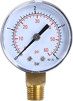 "NEW 0-60 PSI Pool Spa Filter Pressure Gauge 2/""Face 1//4/"" Back Mount w//FREE SHIP"