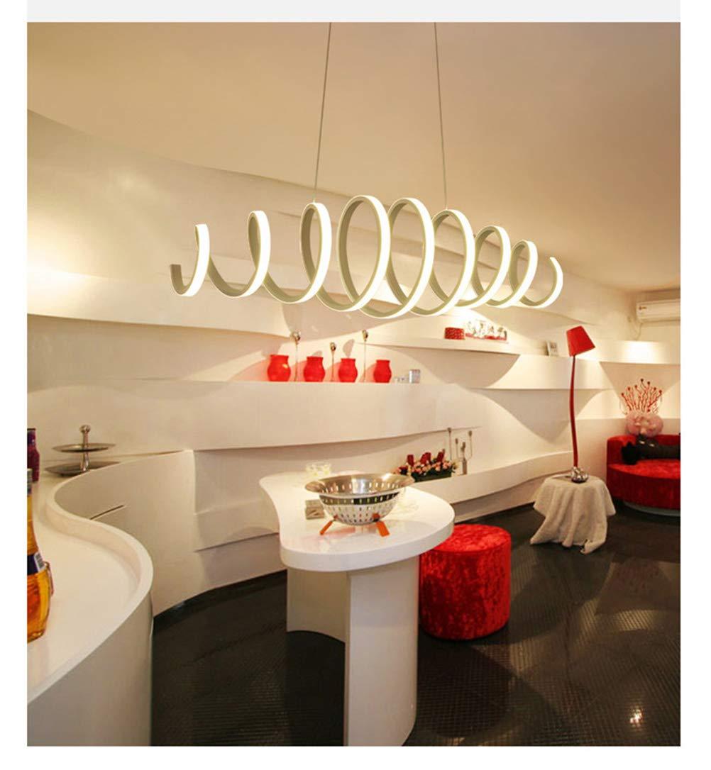 YliJkeT Kronleuchter LED Pendelleuchten Moderne Einfache Kronleuchter Kreative Persönlichkeit Kunst Wohnzimmer Küche Restaurant Pendelleuchte (Farbe : Remote dimming)