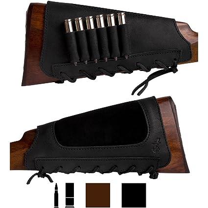 Amazoncom Bronzedog Leather Cartridge Buttstock Shotgun Shell