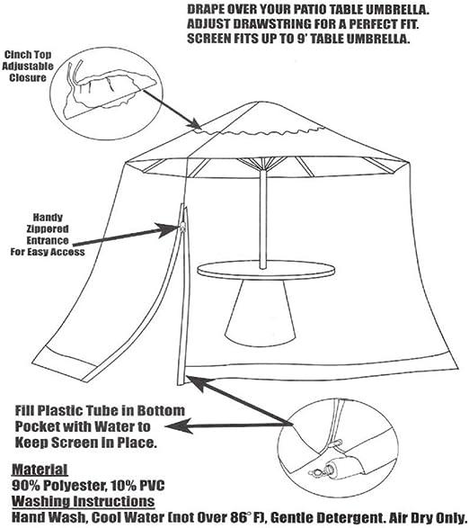 Outdoor Garden Umbrella Table Screen Parasol Mosquito Net Cover ...