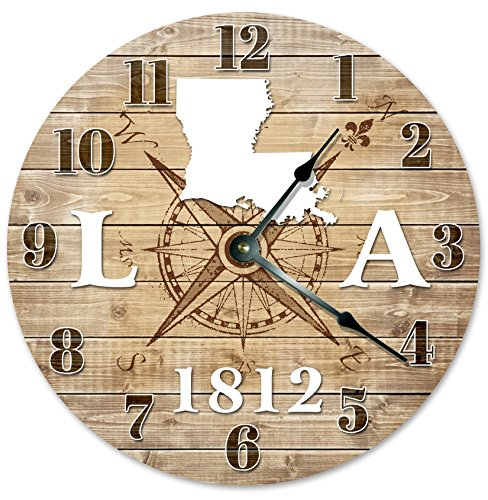 LOUISIANA CLOCK Established in 1812 Decorative Round Wall Clock Home Decor Large 10.5