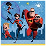 Disney's The Incredibles 2 birthday party supplies 32 pack lunch napkins