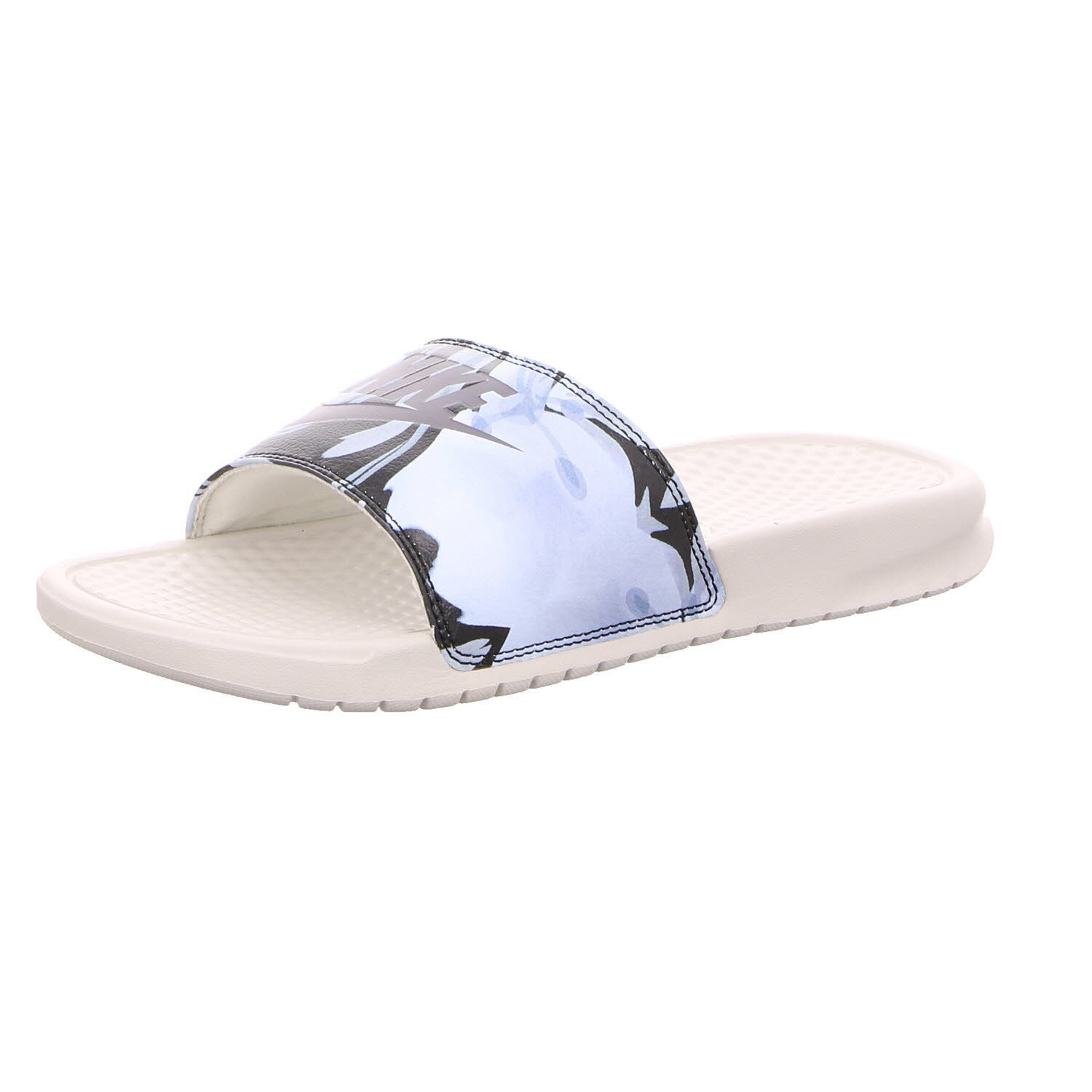 Nike Women's Benassi Just Do It. Sandal nk618919-015 (Light Bone/Light Carbon, 9 B(M) US)