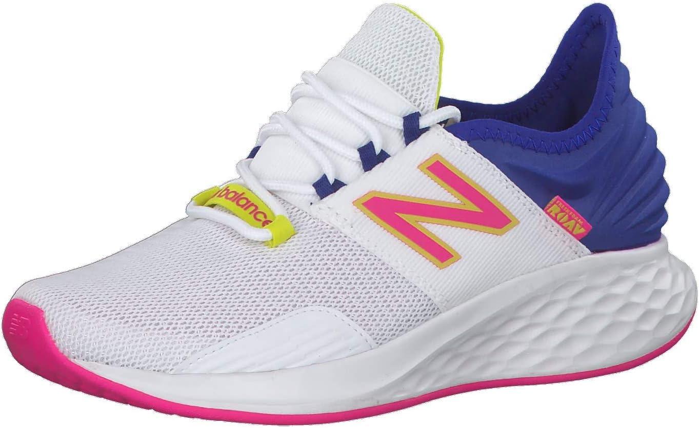 New Balance - Zapatillas de correr para mujer Fresh Foam Roav, Mujer, blanco / azul, 9.5 US - 41 EU - 7.5 UK: Amazon.es: Deportes y aire libre