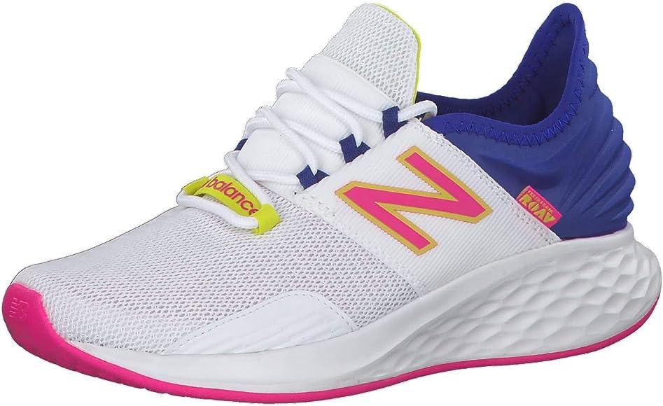 New Balance - Zapatillas de correr para mujer Fresh Foam Roav, Mujer, 739271-50 3, blanco / azul, 9 US - 40.5 EU - 7 UK: Amazon.es: Deportes y aire libre