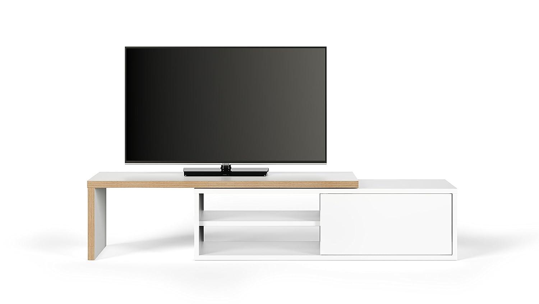 WeiãÿMultiplex TemaHome, Move TV Tisch, 110x35x31 cm, weiß multiplex