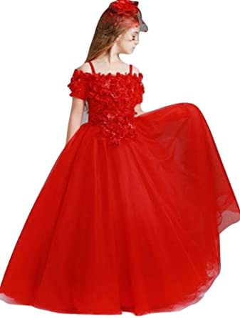8875d5c4a Kaiyanaat Crepe/net Girls/Womens Party wear t Length Gown in Colour red Size