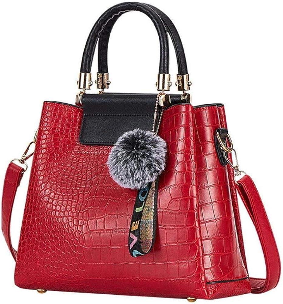 A-Gavvzq 4Ps Bolsos de mujer Set Bolsos de lujo para mujer Bolsos de hombro de cuero de la PU Bolsos compuestos de marca Bolso de mensajero Red