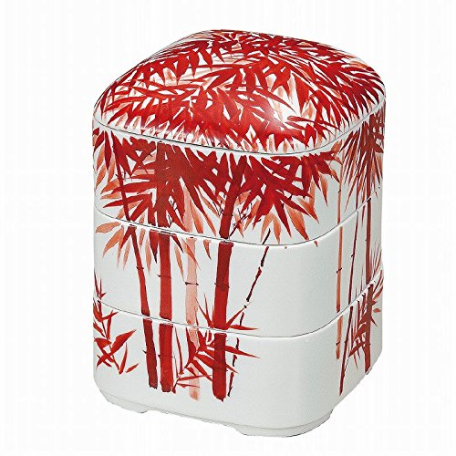 Jpanese traditional ceramic Kutani ware. Oju 3 rooms. Red bamboo. With paper box. ktn-K5-0404 by Kutani