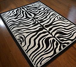 Zebra Skin 5\'x7\' Area Rug - (5\'3\