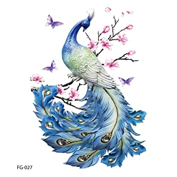 b2ea5badb Amazon.com : Womens Temporary Tattoos Flower Temporary Tattoos Stickers  Lotus Cherry Blossoms Flash Tattoo Feather Butterflies and Multi-Colored  Waterproof ...