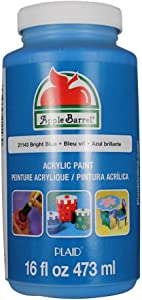 Apple Barrel Acrylic Paint in Assorted Colors (16 Ounce), 21143 Bright Blue