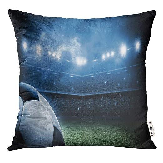 Kinhevao Throw Pillow Green Football Pelota de fútbol en el ...