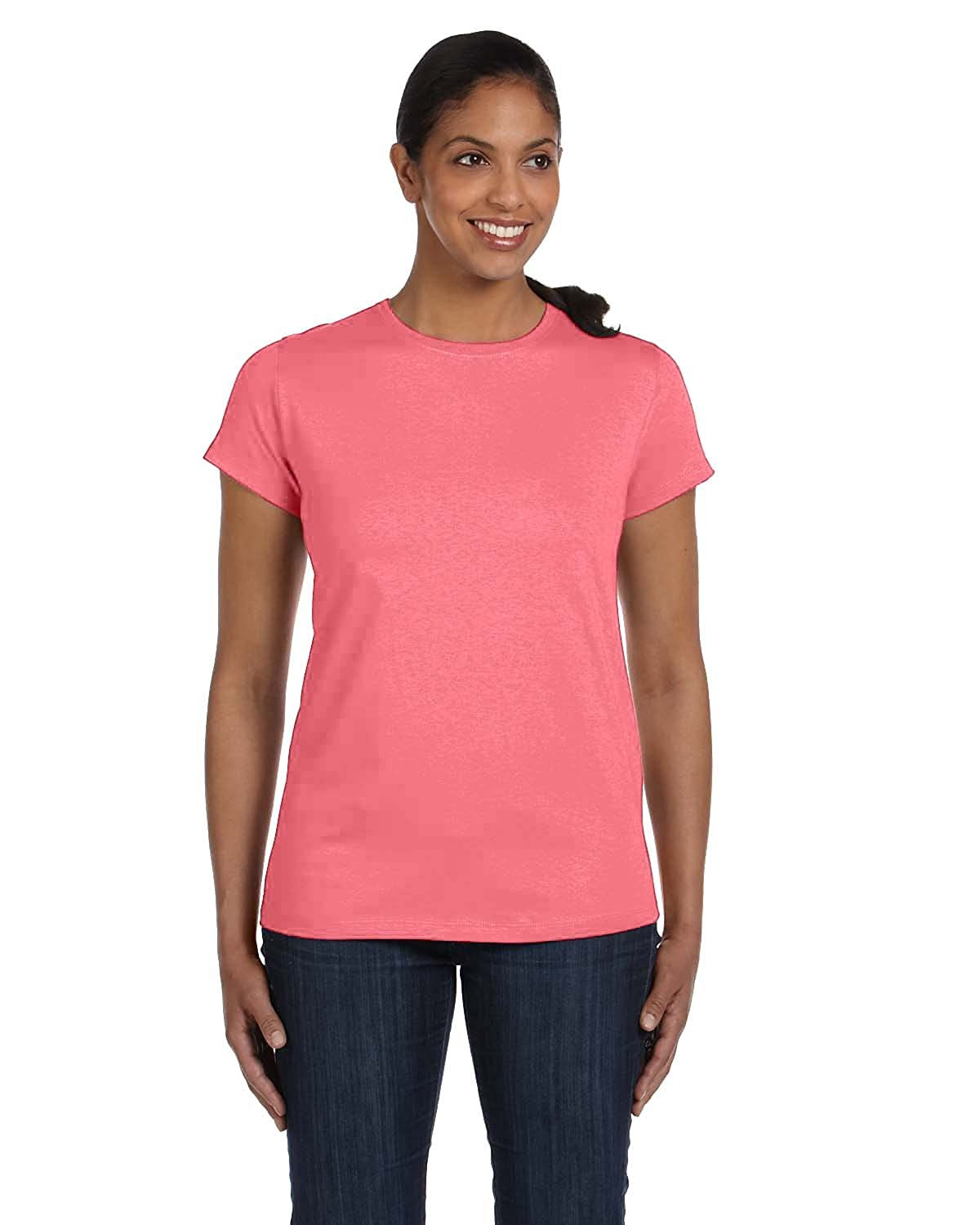 7752b38423 Amazon.com  Hanes Women s Relaxed Fit Jersey ComfortSof Crewneck T-Shirt   Clothing
